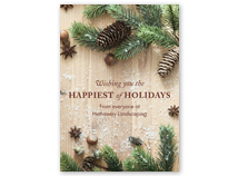 Rustic Barn Board Front Imprint Holiday Card